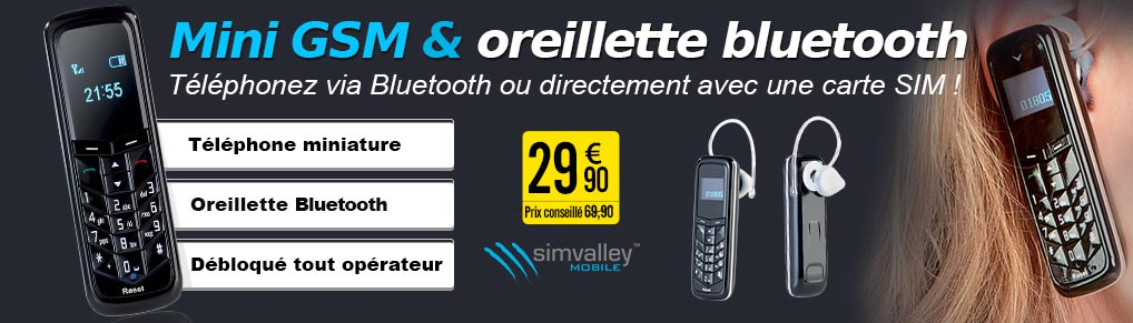 PX3540 Mini GSM & oreillette Bluetooth® SHX-660.duo