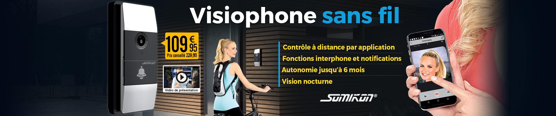 Visiophone sans fil 180 avec wifi et contrôle par application nx4414