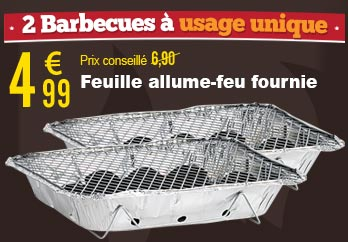 2 Barbecues à usage unique - Infactory - NC3216